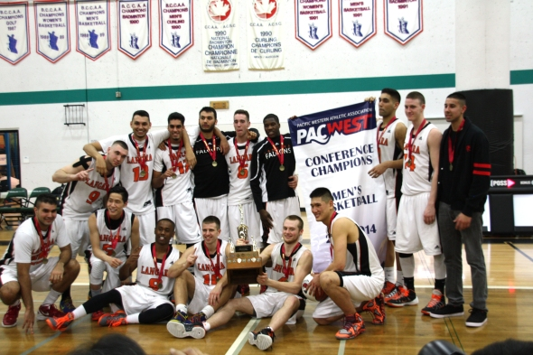 Langara Falcons defeats the VIU Mariners to win their second consecutive PacWest championships.